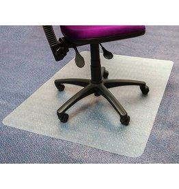 STAPLES Bodenschutzmatte, Teppich, Vinyl, 90 x 120 cm, farblos, transparent