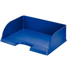 LEITZ Briefkorb Jumbo Plus quer, PS, A4+, 363 x 273 x 103 mm, blau