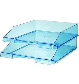 HAN Briefkorb, PS, C4, 255x348x65mm, blau, transparent
