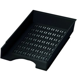 DONAU Briefkorb, PS, C4, 256 x 370 x 70 mm, schwarz
