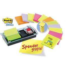 Post-it Haftnotizspender, für: Z-Notes 76x76mm/2x Index 680, schwarz/farblos