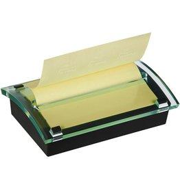 Post-it Haftnotizspender, gefüllt, für: Z-Notes 127 x 76 mm, schwarz/farblos