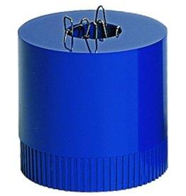 arlac Klammernspender clip-boy, gefüllt, magn., rund, 70x70mm, royalblau