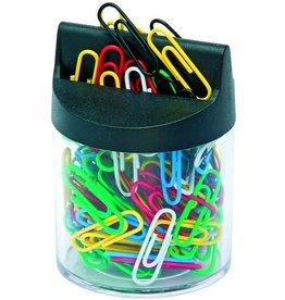 STAPLES Klammernspender, magnetisch, rund, farblos/schwarz, transparent