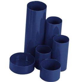 WEDO Köcher Butler JUNIOR, PS, rund, 120x135x148mm, 6 Fächer, blau