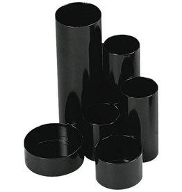 WEDO Köcher Butler JUNIOR, PS, rund, 120x135x148mm, 6 Fächer, schwarz