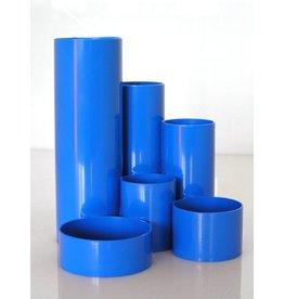 Metzger & Mendle Köcher Schreibtischboy, Kunststoff, rund, 6 Fächer, blau