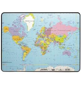 DURABLE Schreibunterlage, mit Weltkarte, PVC, 53 x 40 cm, transparent