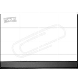 STAPLES Schreibunterlage, Papier, 56 x 42 cm, 50 Blatt, weiß