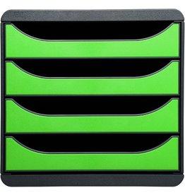 EXACOMPTA Schubladenbox, leer, mit 4 geschlossenen Schubladen, apfelgrün