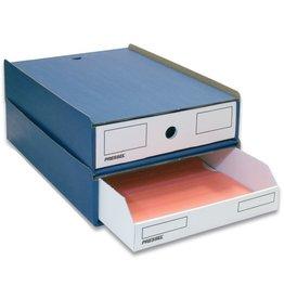 Pressel Schubladenbox, mit 1 Schublade, A4, 258 x 347 x 75 mm, blau/weiß