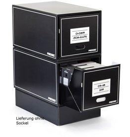 Pressel Schubladenbox, Wellpappe, mit 1 Schublade, 405 x 650 x 345 mm, schwarz
