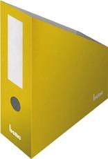 bene Stehsammler, Wellpappe, mit Griffloch, A4+, 100x260x320mm, gelb