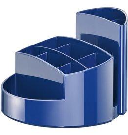 HAN Stifteköcher RONDO, Kunststoff, rund, 140x109mm, 9 Fächer, blau