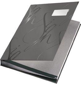 LEITZ Unterschriftsmappe Design, folienkaschiert, A4, 18 Fächer, grau