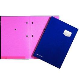 PAGNA Unterschriftsmappe, ECO, A4, 24 x 35 cm, 10 Fächer, blau