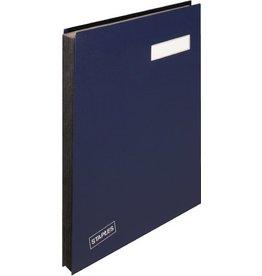 STAPLES Unterschriftsmappe, Kst., A4, 20 Fächer, blau