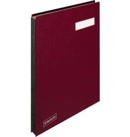 STAPLES Unterschriftsmappe, Kst., A4, 20 Fächer, rot