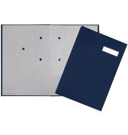 PAGNA Unterschriftsmappe, Leinen, A4, 24x35cm, 20 Fächer, blau