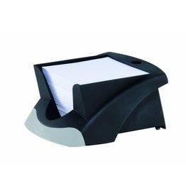 DURABLE Zettelbox VEGAS, Kst., mit Stifthalter, für: 9x9cm, sw, Inhalt: weiß