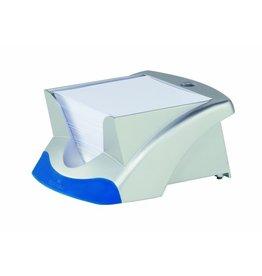 DURABLE Zettelbox VEGAS, mit Stifthalter, für: 9x9cm, silb.met., Inhalt: weiß