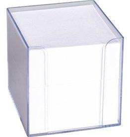 K&E Zettelbox, 700 Blatt, gefüllt, Kunststoff, für: 9 x 9 cm, transparent