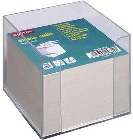 STAPLES Zettelbox, für: 9 x 9 cm, farblos, transparent, Inhalt: grau