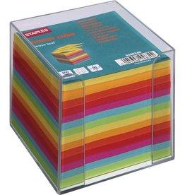 STAPLES Zettelbox, für: 9 x 9 cm, farblos, transparent, Inhalt: sortiert
