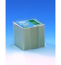 WEDO Zettelbox, gefüllt, für: 9x9cm, farbl., tr, Inhalt: weiß