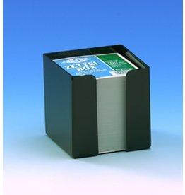 WEDO Zettelbox, gefüllt, für: 9x9cm, sw, Inhalt: weiß