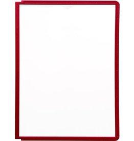 DURABLE Sichttafel SHERPA®, PP, A4, farblos/roter Rahmen
