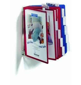 DURABLE Sichttafelwandhalter FUNCTION, für: 10 Sichtt., A4, leer, grau