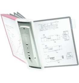 DURABLE Sichttafelwandhalter SHERPA®, für: 10 Sichtt., A4, leer, grau