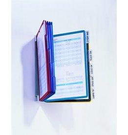 DURABLE Sichttafelwandhalter VARIO®, für: 10 Sichtt., A4, farbl./sort. Rahmen