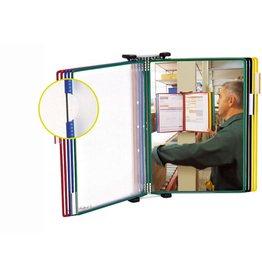 Tarifold Sichttafelwandhalter, für: 10 Sichttafeln, A4, gefüllt, sortiert