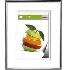 hama Bilderrahmen Sevilla, PS-Glas, 40x50cm, Kst.rahmen, silber, matt