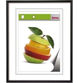 hama Bilderrahmen Sevilla, PS-Glas, 21x29,7cm, Kst.rahmen, schwarz, B: 9mm
