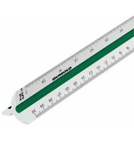RUMOLD Dreikantmaßstab 150, Berufsschule 2, Kst., L: 30cm, weiß