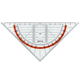 rotring Geodreieck CENTRO, ohne Griff, Hypotenuse: 16 cm, transparente Facette
