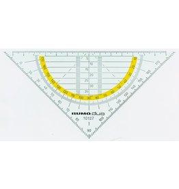 RUMO-duo Geodreieck, Kst., Hypotenuse: 16cm, rauchgr