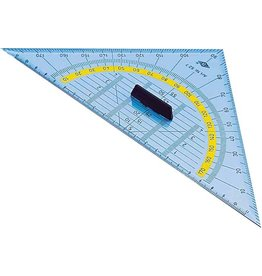 WEDO Geodreieck, Kst., mit abnehmbarem Griff, Hypotenuse: 25cm, tr