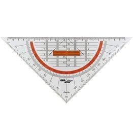 ARISTO Geodreieck GEOCollege, mit abnehmbarem Griff, Hypotenuse: 25 cm, tr