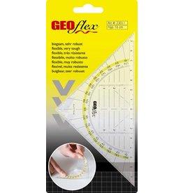 ARISTO Geodreieck GEOflex, ohne Griff, Hypotenuse: 16 cm, transparent