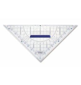 STAEDTLER Geodreieck Mars®, Kst., mit abnehmbarem Griff, Hypotenuse: 22cm