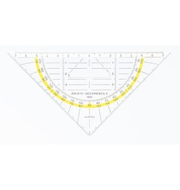 ARISTO Geodreieck, mit festem Griff, Hypotenuse: 16 cm, farblos, transparent