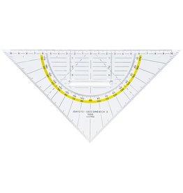 ARISTO Geodreieck, mit festem Griff, Hypotenuse: 22,5cm, glaskl