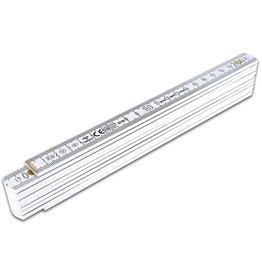 Meterstab Duplex B400, Holz, L: 200 cm, mm-Teilung, weiß