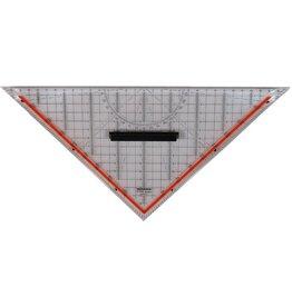 RUMOLD TZ-Dreieck, Hypotenuse: 32,5 cm, farblos, transparent