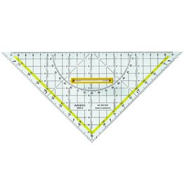 ARISTO TZ-Dreieck, Kst., mit abnehmbarem Griff, Hypotenuse: 25cm, tr
