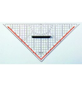RUMOLD TZ-Dreieck, mit abnehmbarem Griff, Hypotenuse: 25cm, fl, tr